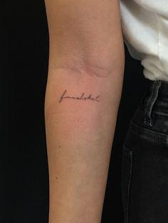 In love with tattoos - In love with tattoos - Lower Hip Tattoos, Inner Elbow Tattoos, Inner Forearm Tattoo, Dainty Tattoos, Small Tattoos, Word Tattoos, Body Art Tattoos, Tatoos, Piercing Tattoo