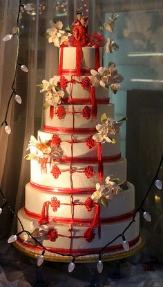 Chinese Wedding Cake   www.tablescapesbydesign.com https://www.facebook.com/pages/Tablescapes-By-Design/129811416695