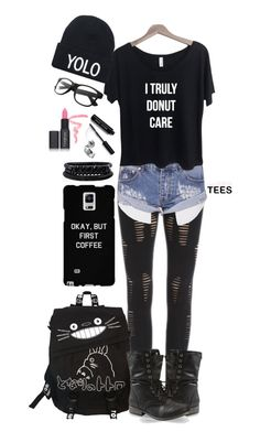 """""""Untitled #22"""" by minyxxngi ❤ liked on Polyvore featuring One Teaspoon, Spring Street, Bobbi Brown Cosmetics and Gorgeous Cosmetics"""