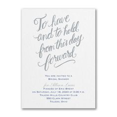 Have and Hold - Bridal Shower Invitation