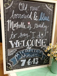 Mint To Be Bridal Shower by Daisy Dreaming - Welcome Sign