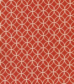 Quilter's Showcase Fabric- Quatrefoil Orange & Cream
