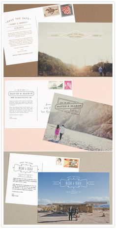 love vs design stationery, save the date, landscape shot (island with city in background)