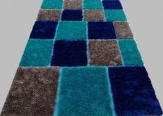 Shag Shaggy Modern Contempora Royal Blue 8x11 Area Rug Actual Size 7'6 x10´5 #Contemporary