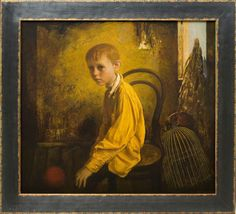 The Corner, 2011   Oil on Board by igor melnikov,American-Russian contemporary artist,born  in Moscow, Russia in 1956