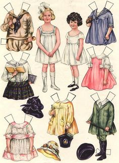 Vintage Paper Dolls Sheila Young, Illustrator Polly Pratt paperdolls that were available in Good Housekeeping magazines during the timeframe. Paper Art, Paper Crafts, Foam Crafts, Paper Dolls Printable, Illustration, Vintage Paper Dolls, Victorian Paper Dolls, Paper Toys, Vintage Images