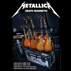 Just a few of James Hetfield's Gibsons. \m/