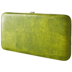 Merona® Green Snake Thin Coated Hinged Wallet ($13) ❤ liked on Polyvore
