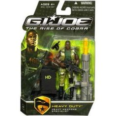 GI Joe The Rise of Cobra Heavy Duty Action Figure [Heavy Weapons Specialist], Multicolor