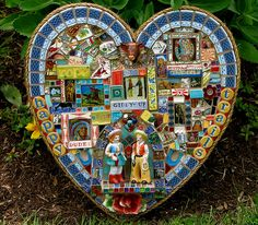 This is a mosaicist that inspired me online a couple of years ago. I love her work!