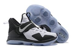 buy popular c2cb1 21993 2018 Nike LeBron 14 White Black Men s Basketball Shoes For Sale