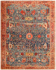 View this beautiful Persian Serapi rug 49080 from Nazmiyal Collection in New York City.