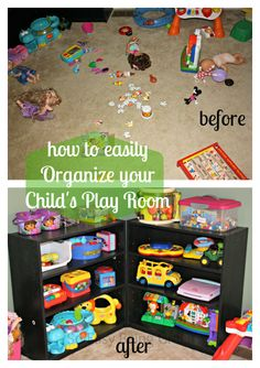 I already do just about everything on this list, but I definitely need more shelves & bins for our Montesorri-inspired playroom :) @Rhonda Alp Alp Nichols-Mahlum I have two book cases we can use