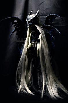 #melenka #monster #high #repaint #monsterhigh #fantasy #rochelle #rochellegoyle #ooak #custom #doll #gargoyle  #ooak #collection