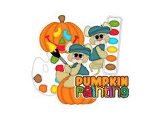 Scrapbook die cuts Pumpkin painting die Cuts Autumn Die