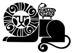 Lion time  Logo for First Isaiah Corporation, a Philadephia-based religious group. Designed in 1970 by Mel Richman, Inc, who are also responsible for designing the Philadephia Flyers logo.