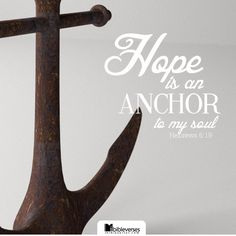 Which hope we have as an anchor of the soul, both sure and stedfast, and which entereth into that within the veil; -Hebrews 6:19...http://ibibleverses.christianpost.com/?p=85631  #hope #anchor