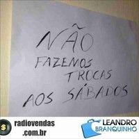 """""""Não fazemos trocas aos sábados"""" - Rádio Vendas com Leandro Branquinho by leandrobranquinho on SoundCloud"""