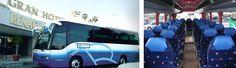 AUTOCAR 35-38 plazas / Vehículo de 10 metros de longitud, 2 metros menor que los grandes. Son autocares para grupos entre 20 y 30 personas cuya medida crea un clima especial entre los pasajeros. Ideal para los circuitos.