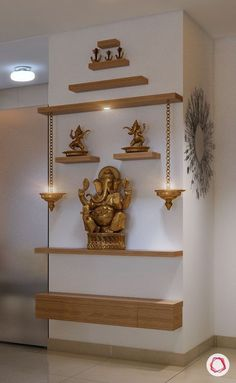 35 Perfect Indian Home Decor Ideas For Your Ordinary Home Living Room Partition Design, Pooja Room Door Design, Room Partition Designs, Home Room Design, House Design, Ethnic Home Decor, Indian Home Decor, Indian Wall Decor, Temple Design For Home