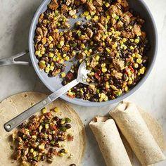 Easy Campfire Meals, Campfire Food, Freezer Breakfast Burritos, Vegan Burrito Bowls, Bean Burritos, Plant Based Snacks, Frozen Cauliflower Rice, Healthy Family Dinners, Cooking Turkey