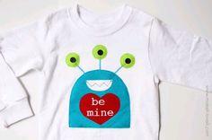 Monster boy's Valentine shirt