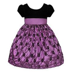 American Princess- -Girl's Dress Short Sleeve Pucker Taffeta Purple