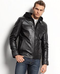 Boss Nortik Quilted Leather Hooded Jacket | Products | Pinterest