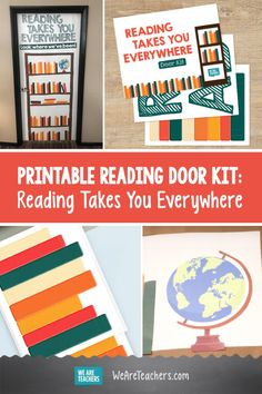 Get This Printable Reading Door Kit for Your Classroom. This reading door kit is perferct for tracking all the books your students read. They can write the titles of their favorite books on the free printable! Student Reading, Teaching Reading, Fun Learning, Classroom Bulletin Boards, Classroom Decor, Door Kits, First Grade Classroom, Diy For Kids, Students