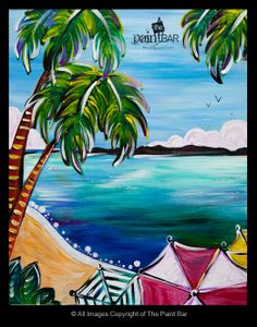 Caribbean Paradise Painting - Jackie Schon, The Paint Bar