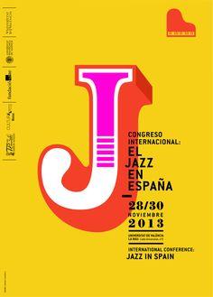 cartel para el Congreso Internacional de Jazz, realizado recientemente en Valencia.