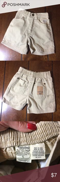 Timberland shorts Little boys size 12m timberland khaki shorts. No issues except light wear. Timberland Bottoms Shorts