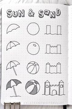 Creating A Bullet Journal, Bullet Journal Notebook, Bullet Journal Aesthetic, Bullet Journal Ideas Pages, Bullet Journal Inspiration, Bullet Journal For Beginners, Easy Doodles Drawings, Easy Doodle Art, Cute Easy Drawings