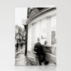 Around this corner... Stationery Cards by Anja Hebrank - $12.00  #york #uk #england #corner #shop #silouette #shopping #old #vintage #dresden #germany #deutschland #streetphotography #canon #present #decoration #kitchen #interior #bnw #blackwhite #travelling #travelphotography #design #individual #society6 #print #art #artprint #interior #decoration #design #card #postcard #stationerycard
