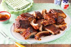 Fire Up the Grill and Make These BBQ Ribsthepioneerwoman Grilled Bbq Ribs, Barbecue Ribs, Ribs On Grill, Pork Ribs, Grilled Food, Fun Pizza Recipes, Rib Recipes, Grilling Recipes, Dinner Recipes