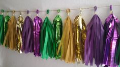 Only 16.99 20 Tassel Mardi Gras Tissue Paper by SnootyBlooms