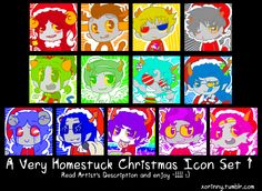 A Very Homestuck Christmas Icon Set 1 by princelupin