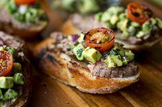 Random Pictures Photo Gallery : theBERRY // Grilled Steak & Avocado Salsa Crostini