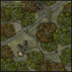 Miir Tower Campsite by Neyjour.deviantart.com on @DeviantArt
