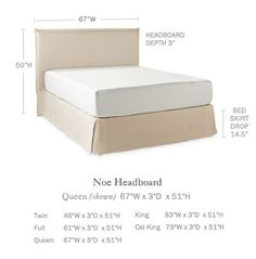 Shop the Noe Slipcovered Headboard and Skirt and the rest of our designer Beds & Headboards at Serena and Lily.