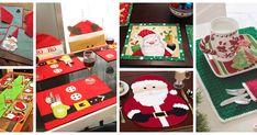 Aprende cómo hacer individuales navideños de santa claus paso a paso Ideas Para, Advent Calendar, Napkins, Patches, Holiday Decor, Home Decor, Christmas Wreaths, Crochet Ornaments, Dressmaking