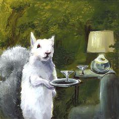 Donald  Albino Squirrel gros caractères par amberalexander sur Etsy