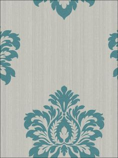 Vintage Flock GraySilver Wallpaper Ideas for the House