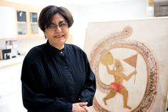 """Nalini Malani on """"Hanuman Bearing the Mountaintop with Medicinal Herbs"""" 