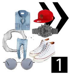 """Untitled #10"" by kieraschicheart ❤ liked on Polyvore featuring Converse, MANGO MAN, Sik Silk, New Era, Zunammy, Thom Browne, men's fashion and menswear"