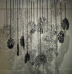 Alexander Zealand - Art installation using recycled film strip