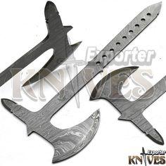 New Tomahawk Custom Hand Forged Damascus Steel Blank Throwing Axe / Hatchet #KNIVESEXPORTER