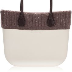 Ribbed English Cashmere Trim with Sequins - Dove - O bag Classic Accessory