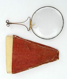 """Very Early Magnifying Glass – Rare – Circa 1680-1720    Extremely early magnifying glasses of this type and style were also called quizzing glasses, and they were used as a reading aid before the invention of eyeglasses in 1727."""
