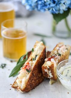 Lobster Grilled Cheese with Tarragon Garlic Butter. | How Sweet It Is